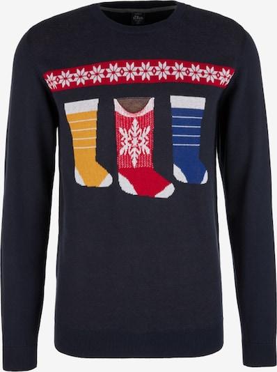 Megztinis iš s.Oliver , spalva - tamsiai mėlyna / mišrios spalvos, Prekių apžvalga