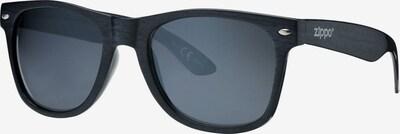 ZIPPO Sonnenbrille polarized Smoke Flash 'Black Wood' in schwarz, Produktansicht