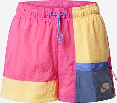 Nike Sportswear Bikses pieejami tumši zils / dzeltens / rozā, Preces skats