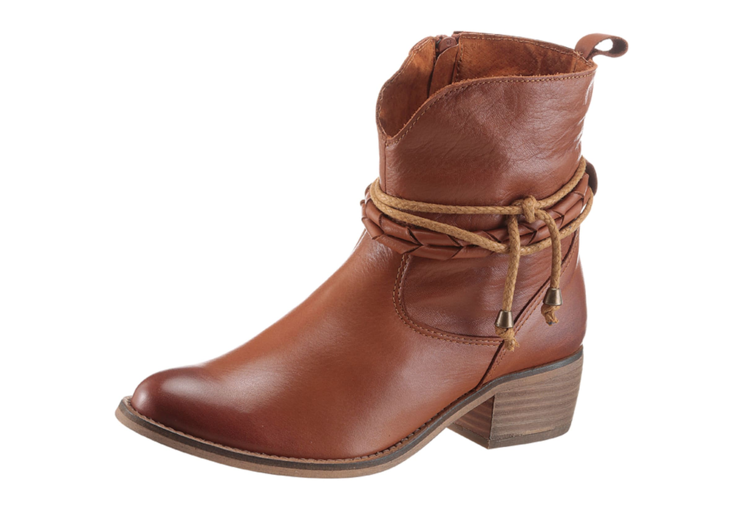 ANDREA CONTI CONTI ANDREA | Trachtenstiefelette mit Zierbänder Schuhe Gut getragene Schuhe d8de6b