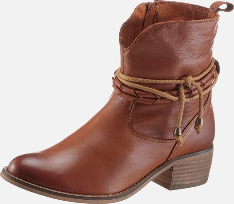 ANDREA CONTI | Trachtenstiefelette mit Zierbänder Schuhe Gut getragene Schuhe