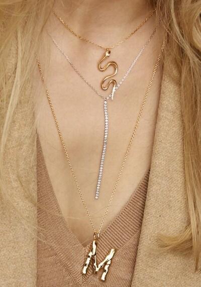 XENOX Kette 'Glamour Match' in silber, Produktansicht