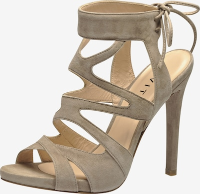 EVITA Damen Sandalette in beige: Frontalansicht