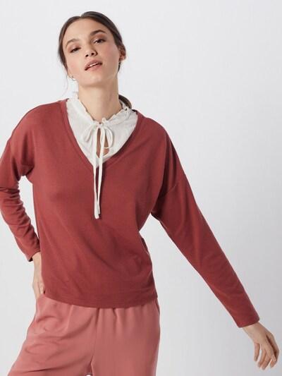 ONLY Pullover 'ASHLEY' in rot / weiß, Modelansicht