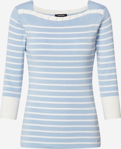 MORE & MORE Pullover in rauchblau / naturweiß, Produktansicht