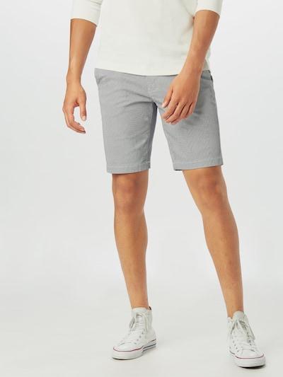 BURTON MENSWEAR LONDON Chino kalhoty 'MONO' - černá / bílá: Pohled zepředu