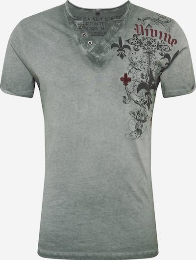 Key Largo T-Shirt in grau / schwarz, Produktansicht