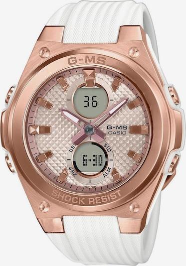 CASIO Uhr 'MSG-C100G-7AER' in rosegold / weiß, Produktansicht