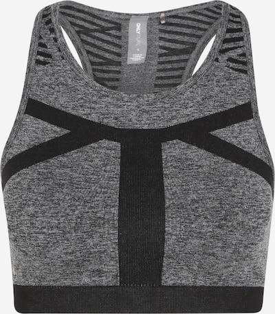 ONLY PLAY Soutien-gorge de sport 'MASHA LIFE CIRCULAR' en gris foncé / noir, Vue avec produit