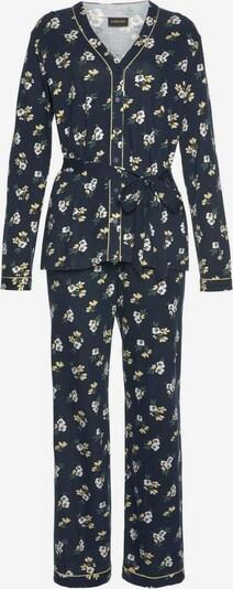 LASCANA Pyjama in marine / mischfarben, Produktansicht