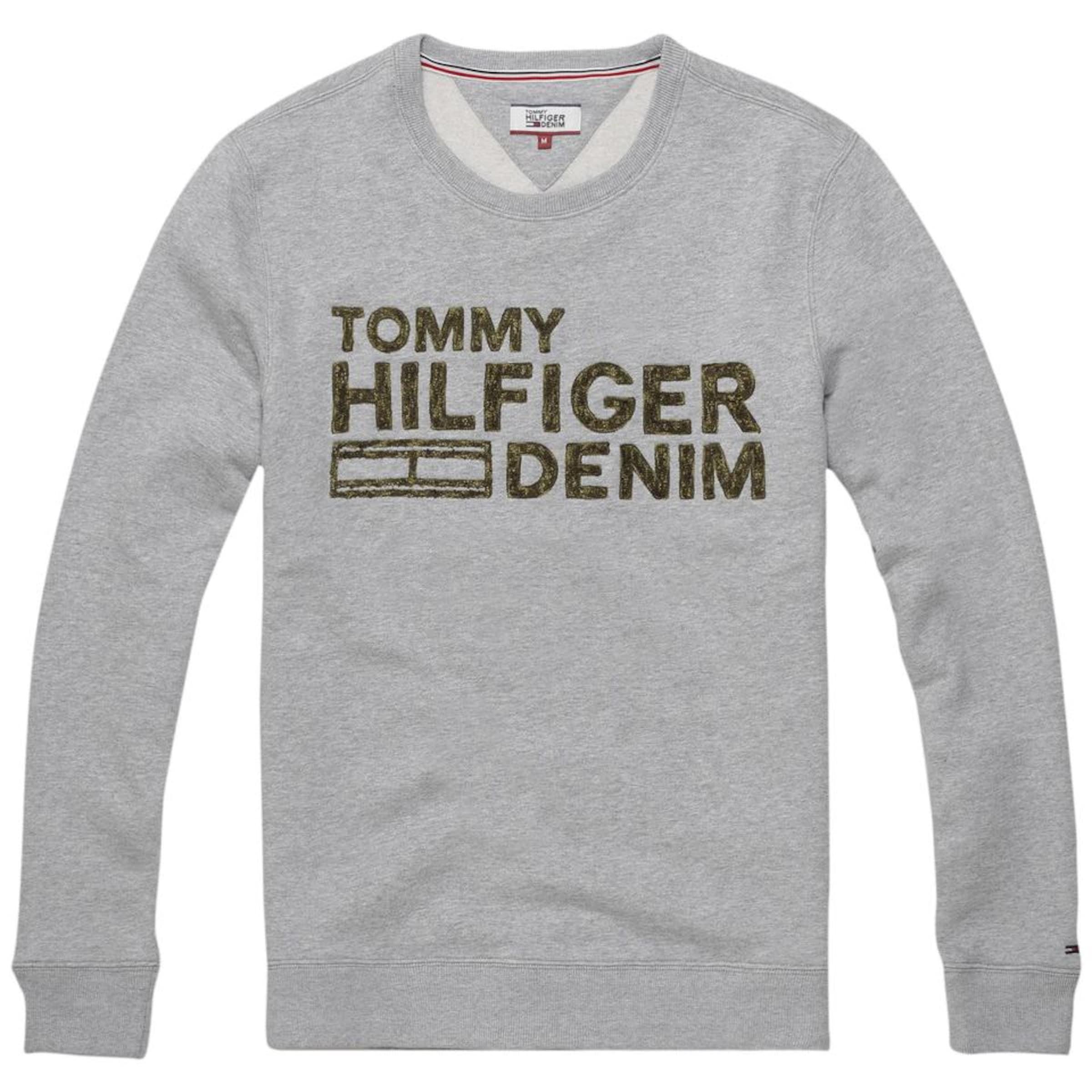 Tommy Jeans Sweatshirt 'THDM EMB CN HKNIT L/S 36' Mit Kreditkarte Freiem Verschiffen Outlet Rabatt Authentisch Freies Verschiffen Niedrig Versandkosten Gut Verkaufen gJXHPa203x