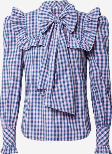 Bluză Custommade pe albastru / alb, Vizualizare produs