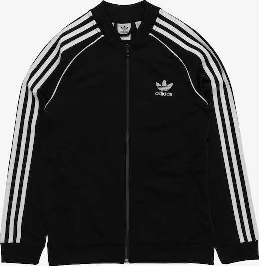 ADIDAS ORIGINALS Trainingsjacke 'Superstar Top' in schwarz / weiß, Produktansicht