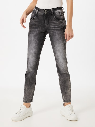 STREET ONE Jeans in dunkelgrau, Modelansicht