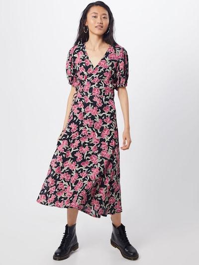 JUST FEMALE Kleid 'Alda' in grün / pink / schwarz, Modelansicht
