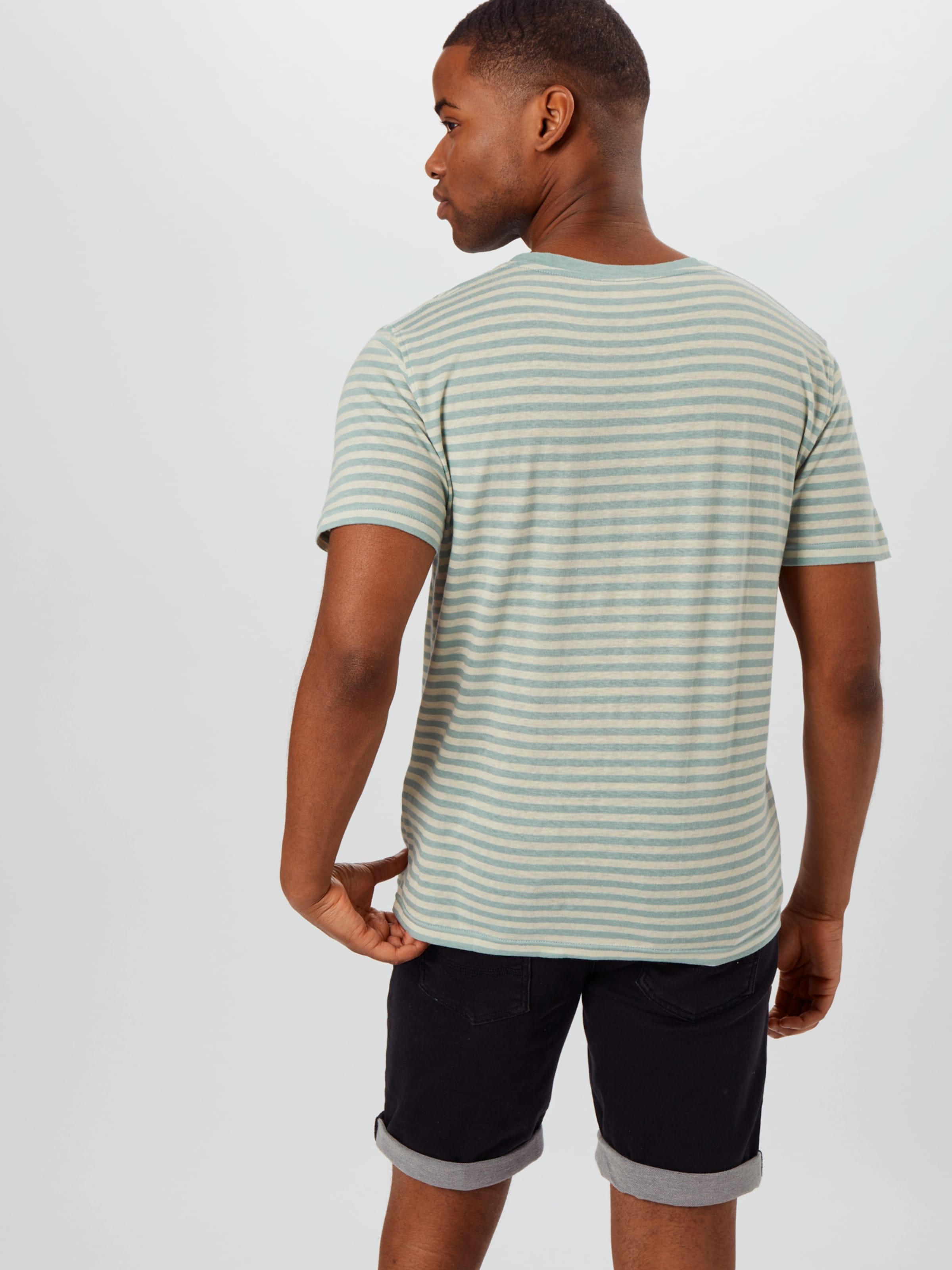 Armor Lux T-Shirt Héritage en vert clair / blanc naturel UuTj9j
