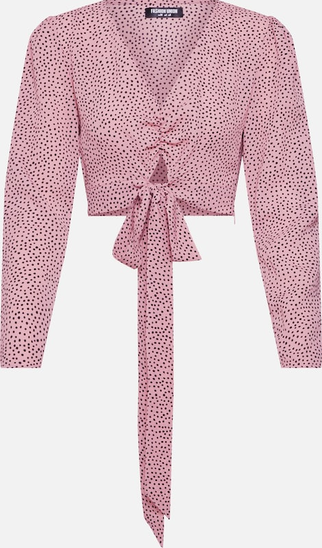 Fashion Union Blouse 'LAMB' in de kleur Rosa / Bourgogne: Vooraanzicht