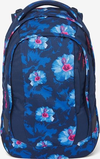 Satch Schulrucksack in blau / hellblau / pink, Produktansicht