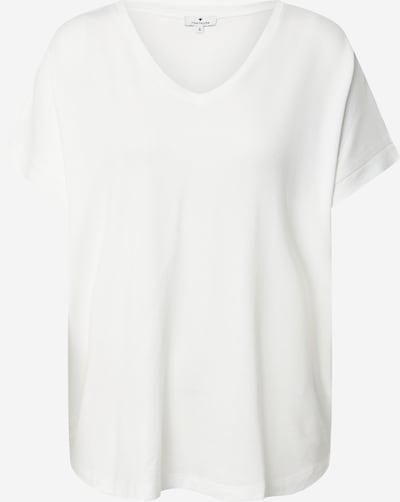 TOM TAILOR T-shirt en blanc cassé: Vue de face