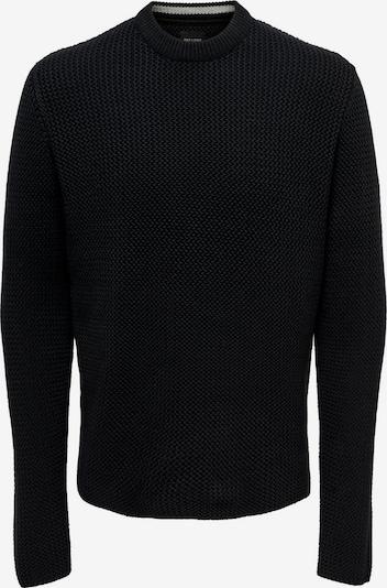 Only & Sons Strickpullover in schwarz, Produktansicht