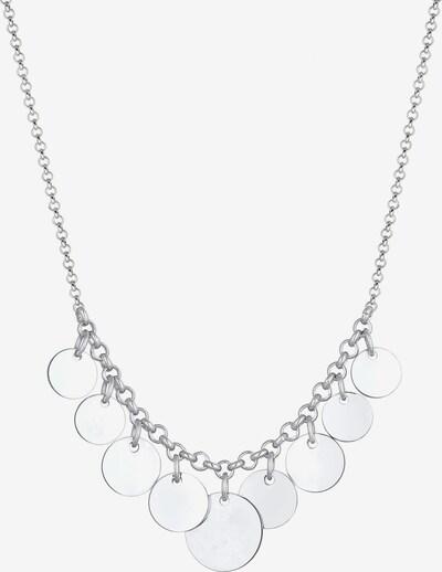 ELLI PREMIUM Halskette Geo Plättchen in silber, Produktansicht