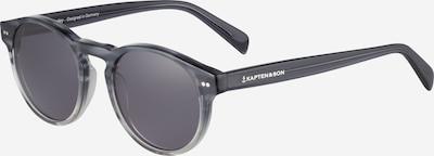 Kapten & Son Sonnenbrille 'Berkeley' in grau / schwarz: Frontalansicht