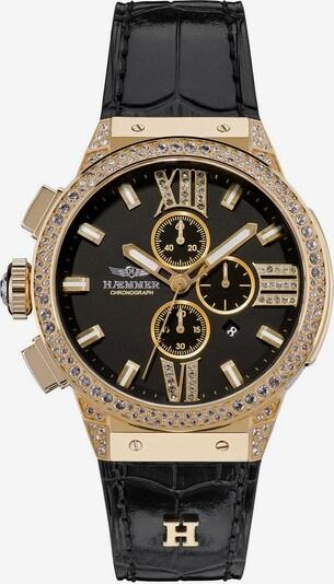 HAEMMER Uhr in gold / schwarz / transparent, Produktansicht