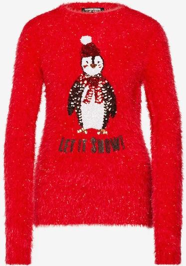 piros Fashion Union Pulóver 'PENGUIN', Termék nézet