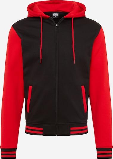 Urban Classics Mikina s kapucí - červená / černá, Produkt