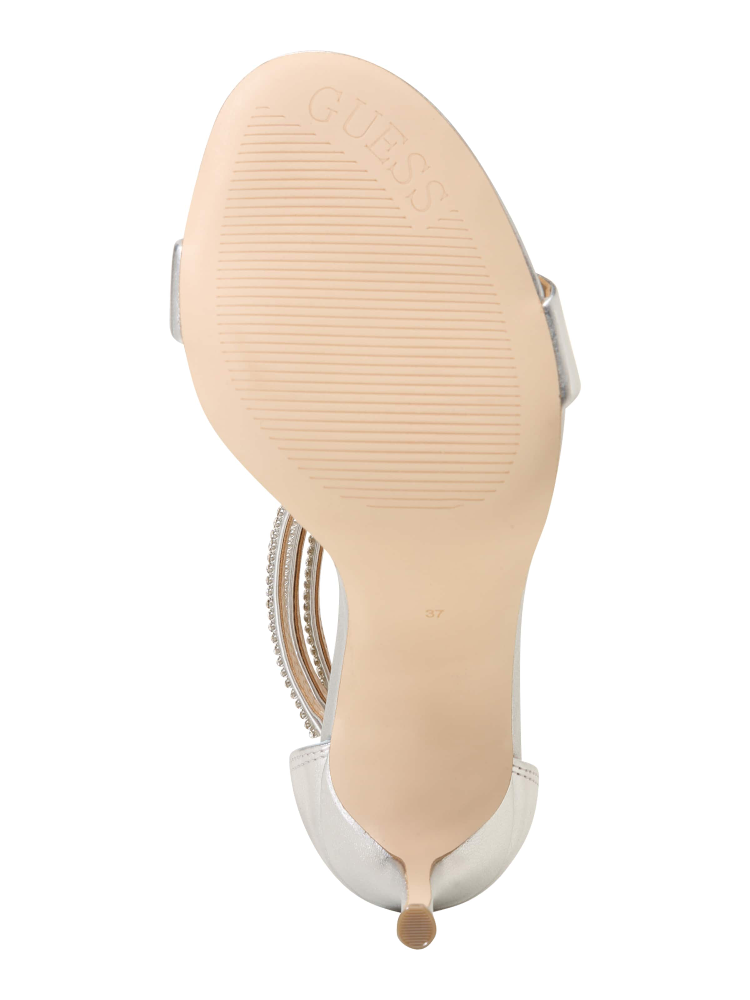 Guess In 'kathy' Guess In Guess Sandalette BeigeSilber Sandalette 'kathy' BeigeSilber ARjL54