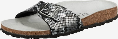 BIRKENSTOCK Mule 'Madrid Python' en noir / argent, Vue avec produit