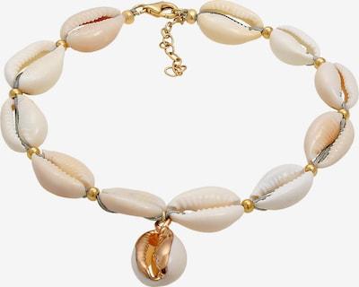 ELLI Fußschmuck  Muschel in gold / perlweiß, Produktansicht
