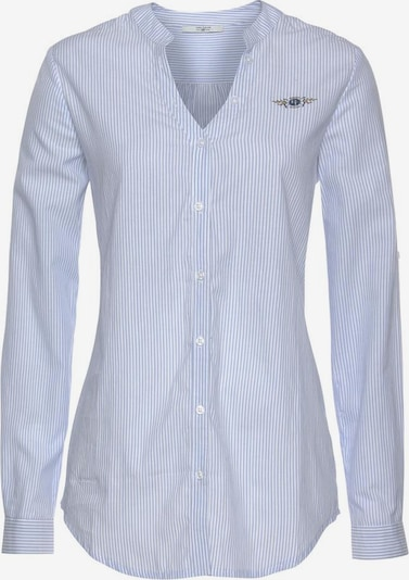Tom Tailor Polo Team Longbluse in hellblau / weiß, Produktansicht
