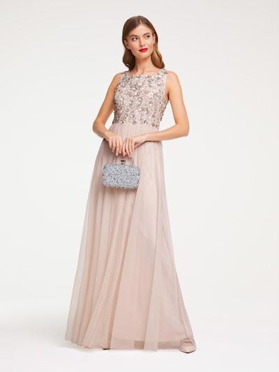 Vakarinė suknelė iš heine , spalva - rožių spalva / Sidabras, Modelio vaizdas