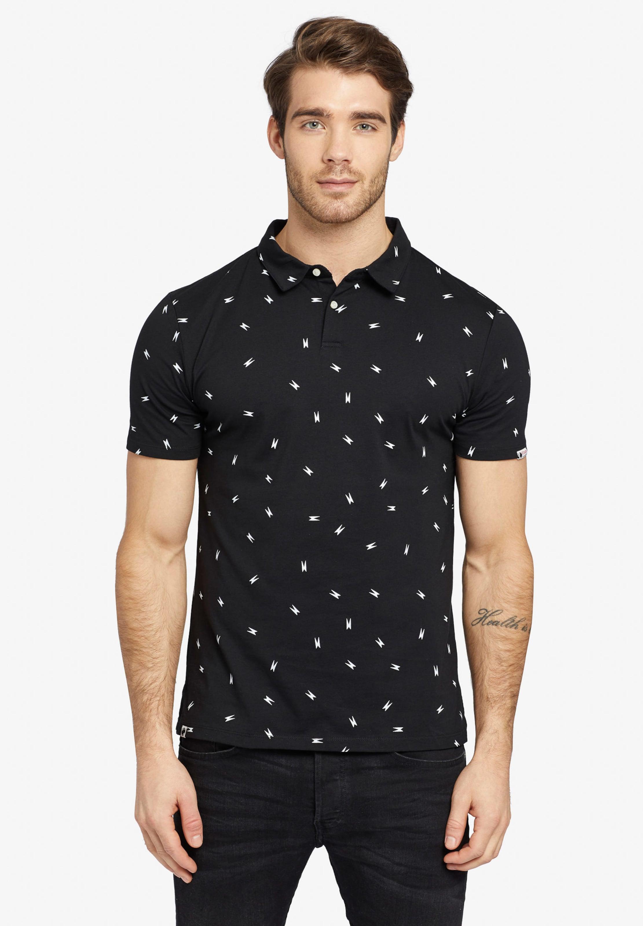 Khujo NoirBlanc T En shirt 'jikel' OPTiukXZ