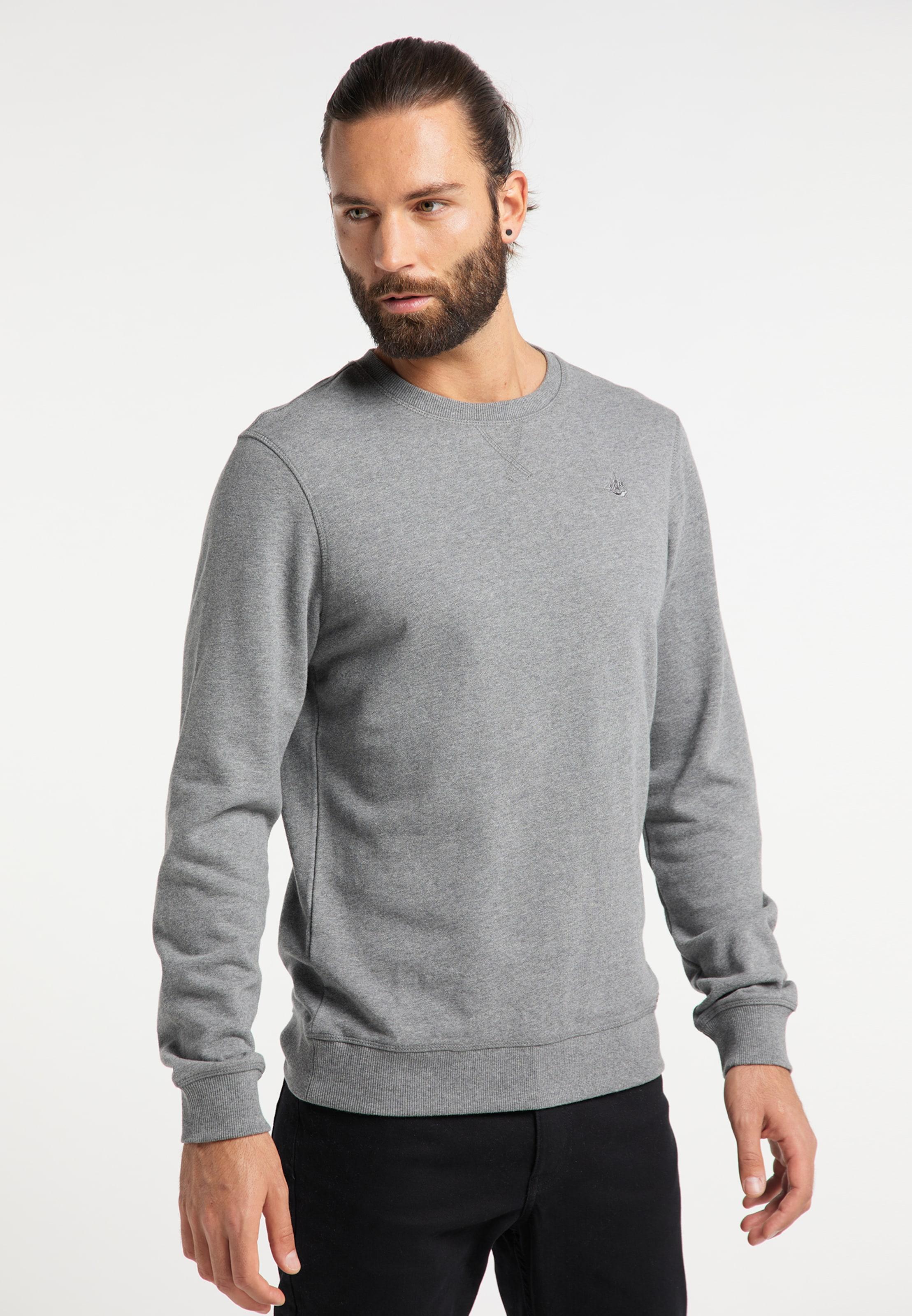 DREIMASTER Sweatshirt in grau Rundhals-Ausschnitt 4251686652885