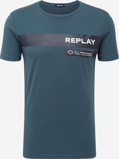 REPLAY T-Shirt in petrol / schwarz / weiß, Produktansicht