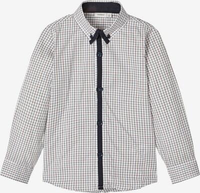 NAME IT Overhemd in de kleur Nachtblauw / Kersrood / Wit: Vooraanzicht
