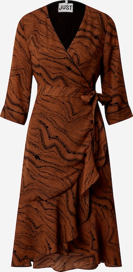 JUST FEMALE Kleid 'Celine wrap dress' in braun / schwarz, Produktansicht