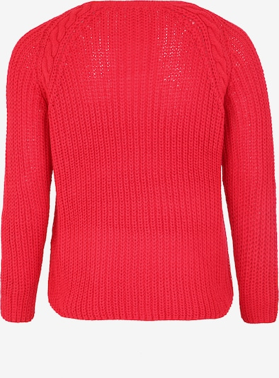 Pulover ONLY Carmakoma pe roșu neon: Privire spate