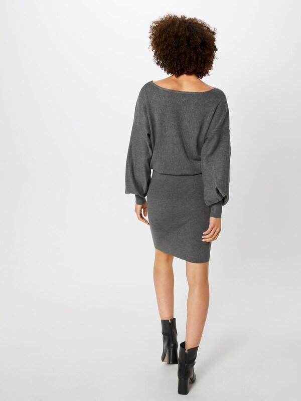VILA Kleid 'NOMANE KNIT BOATNECK BOATNECK BOATNECK L S DRESS' in dunkelgrau  Mode neue Kleidung 1e4881