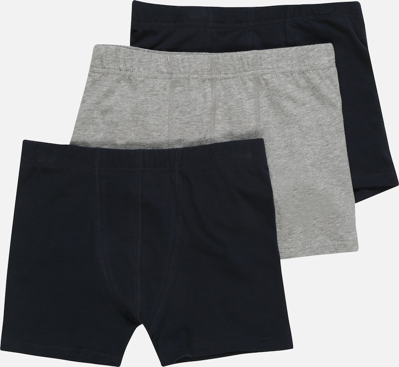 NAME IT Boxershorts 'TIGHTS 3P SOLID GREY' in graumeliert, Produktansicht