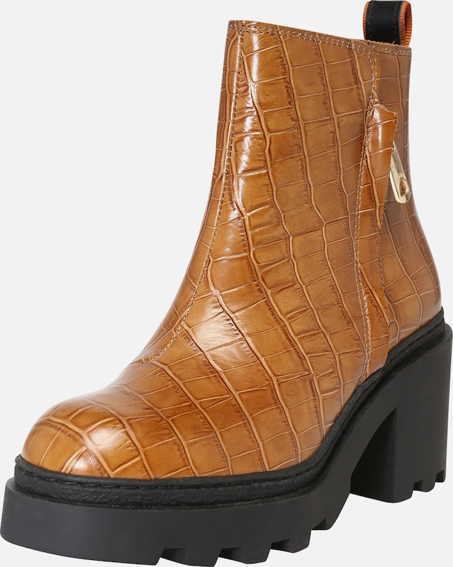 SCOTCH & SODA Boots 'Calista' in cognac: Frontalansicht