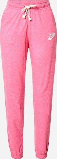 Nike Sportswear Pantalon en rose / blanc, Vue avec produit