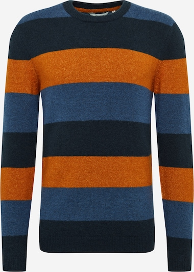 kék / tengerészkék / sötét narancssárga !Solid Pulóver 'Mayan', Termék nézet