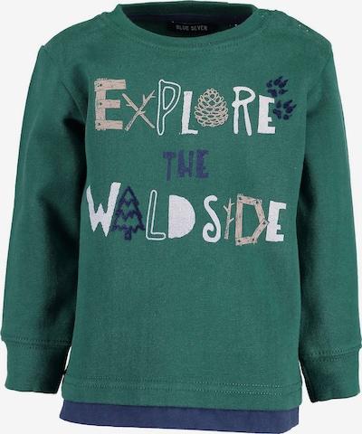 BLUE SEVEN Sweatshirt in dunkelblau / grün / weiß, Produktansicht