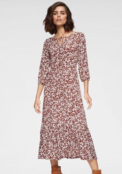 TAMARIS Kleid in rostrot / weiß, Modelansicht