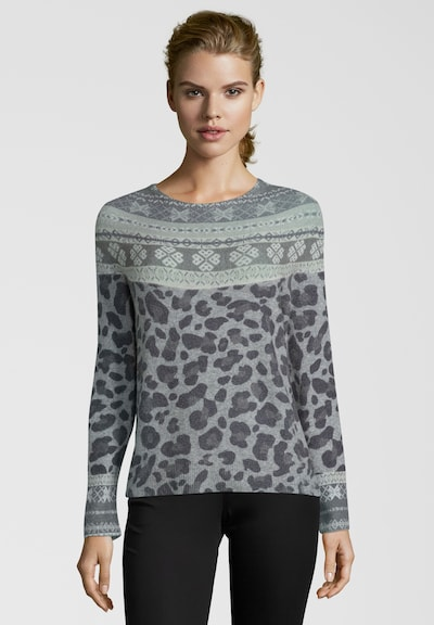 PRINCESS GOES HOLLYWOOD Pullover mit Muster-Mix in grau, Modelansicht