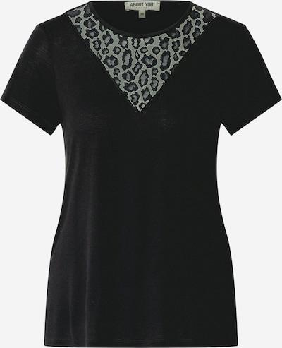 ABOUT YOU Majica 'Erin' | črna barva: Frontalni pogled