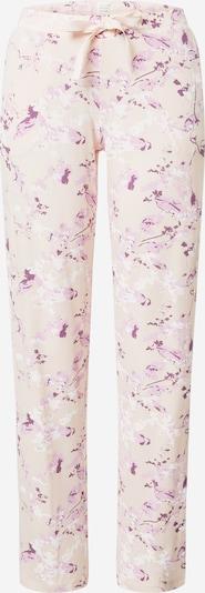 SCHIESSER Pyjamahose in beige / dunkellila / rosa / pastellpink, Produktansicht